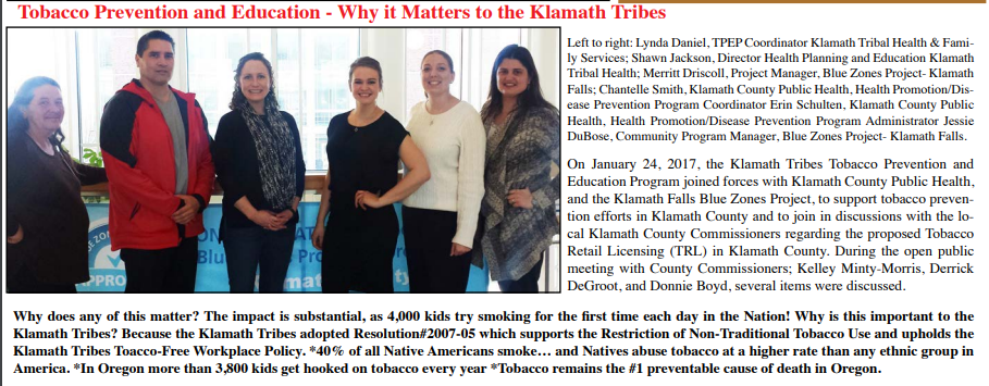 Why tobacco prevention matters to The Klamath Tribes