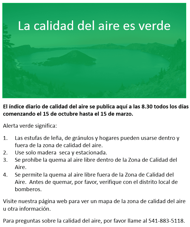 Spanish green advisory
