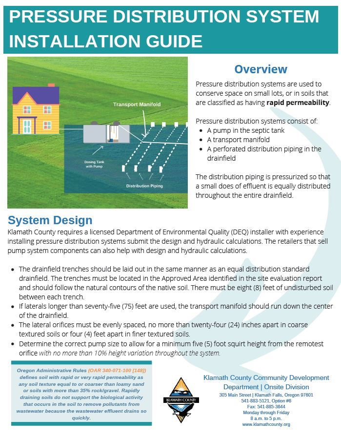 Pressure Distribution System Installation Guide Opens in new window